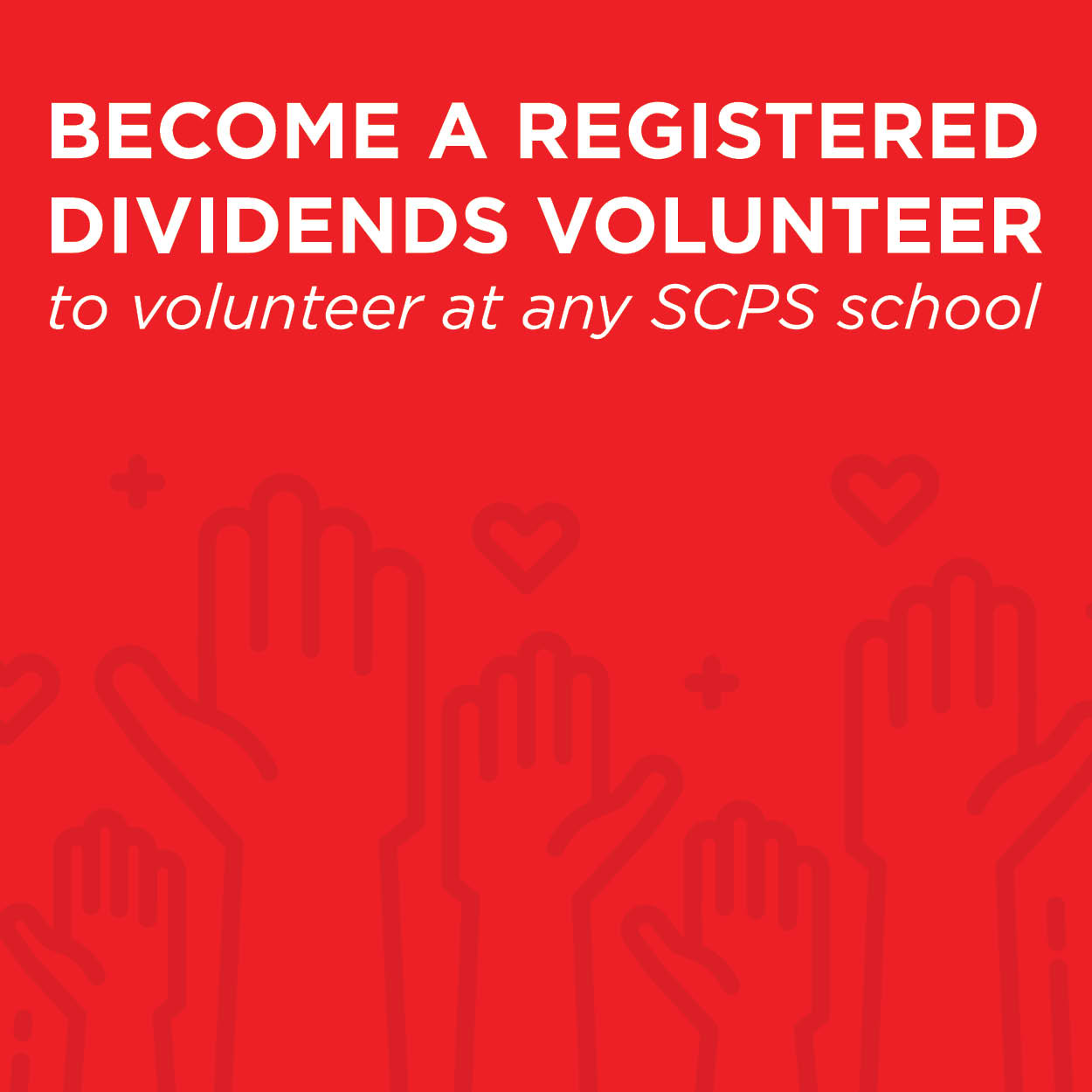 Become A Registered Dividend Volunteer - Link to Website